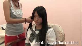 刈り上げJK 5  ☆ High School Girl Haircut  Long To Short BOB  断髪