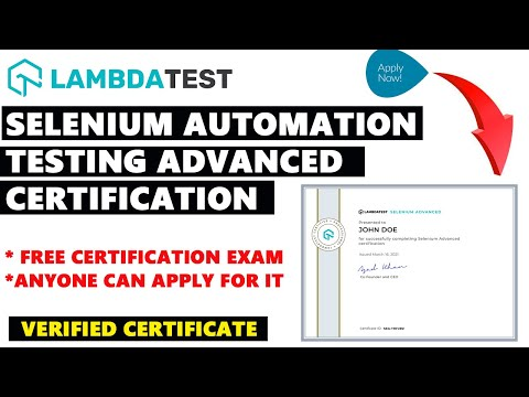 Selenium Automation Testing Advanced Certification | Free Online Course with Free Certificate