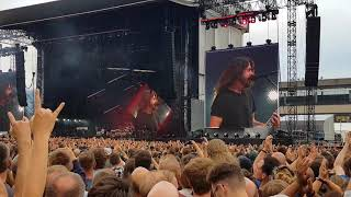 "Foo Fighters ""All My Life"" live at Trabrennbahn Hamburg 10.06.2018"