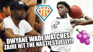 Dwyane Wade Watches Zaire HIT A NASTY JELLY, DROP 26 & CATCH A DUB!! | VARSITY BASKETBALL DEBUT