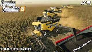 Harvesting the biggest field ever | HORSCH AgroVation | Multiplayer Farming Simulator 19 | Episode 3