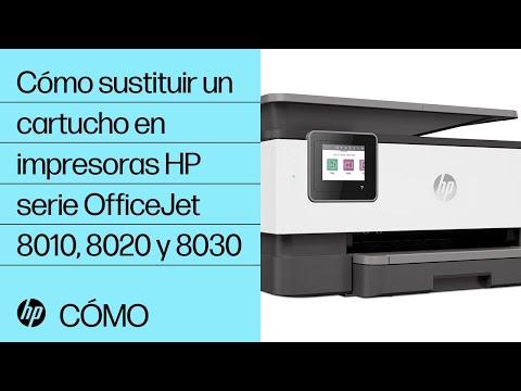 Cómo sustituir un cartucho de tinta en impresoras HP OfficeJet de la serie 8010 y OfficeJet Pro de las series 8020 y 8030