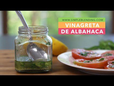 Receta de aliño de albahaca   Aderezo para ensalada   Sin vinagre