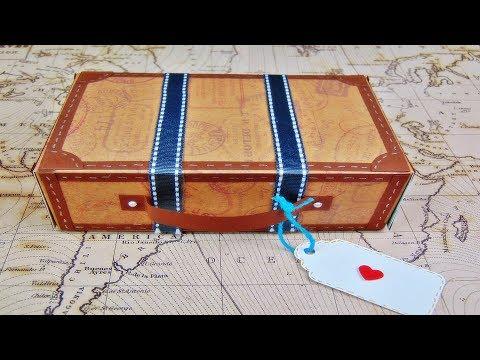 Basteln: Koffer aus Papier / Geschenkverpackung / DIY / Last Minute Geschenkideen
