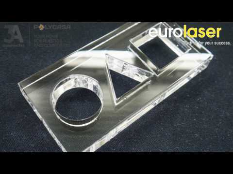CRYLUX™ | Laser cutting test