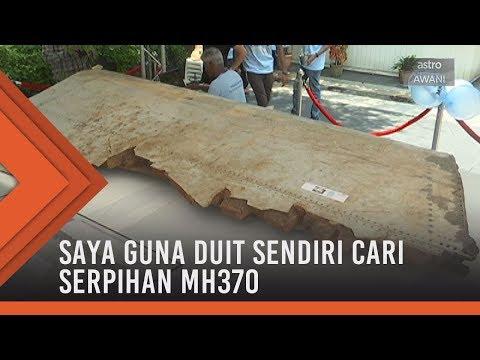 Saya guna duit sendiri cari serpihan MH370 - Penyiasat