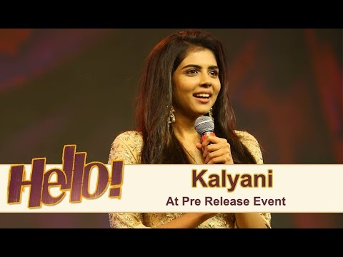 Kalyani Priyadharshan At Hello Pre Release Event