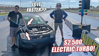 Drag Race Testing a $2,500 ELECTRIC TURBO!! Will This Thing Really Perform??