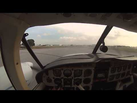 Piper Aztec PA-23 hot start and taxi. Pilot's eyes with GoPro Hero 3.