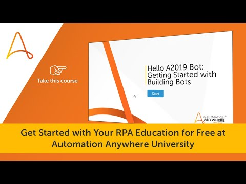 Learn How to Get Started with RPA at Automation Anywhere ...