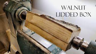 024 Woodturning - walnut lidded box