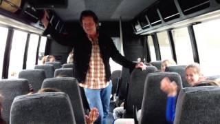 """John Fogerty sings """"Don't You Wish It Was True"""" on School Bus"""