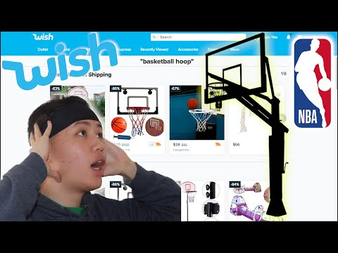 I Bought A CHEAP NBA Sized Basketball Hoop From WISH!
