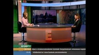 Járóka Lívia az Echo TV Napi aktuális című műsorában