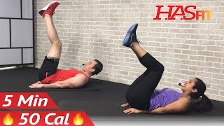 5 Min Lower Ab Workout for Women & Men - 5 Minute Lower Abs Belly Fat Flattener Stomach Workout by HASfit