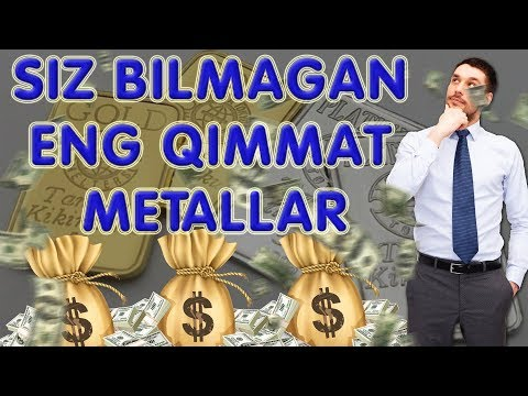 """Siz bilmagan 5ta Eng qimmat metallar (""""Oltin""""dan qimmat)"""