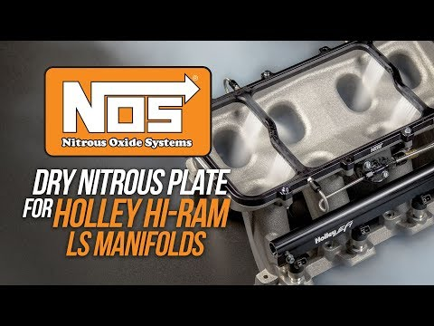 NOS Dry Nitrous Plate for Holley Hi-Ram LS Manifolds