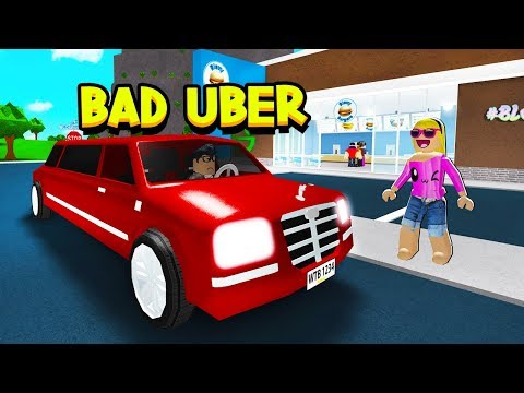 LIMO UBER DRIVER IN ROBLOX BLOXBURG!! - смотреть онлайн на