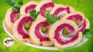 Гости будут в восторге!  «ШУБА В ШУБЕ» красивый рулет из популярного  салата.
