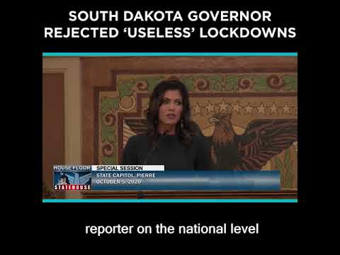 South Dakota Governor Rejected 'Useless' Lockdowns