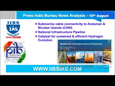 PIB News Analysis | 10th August | CANI NIP  - Catalyst for sustained & efficient Hydrogen Evolution