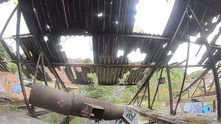 Bando Buzzing at the graffiti village! abandoned brickworks Halifax, fpv fling with 4 inch quad.