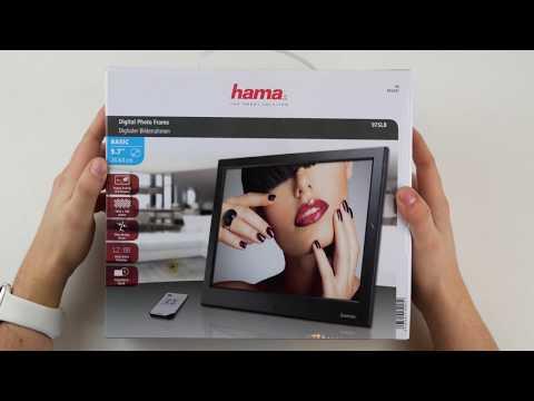 HAMA 97SLB Digitaler Bilderrahmen Unboxing + kurzer Test