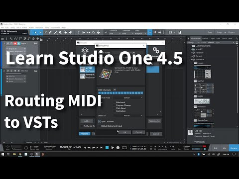 Learn Studio One 4.5 | Routing MIDI to VSTs