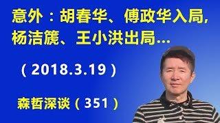意外:胡春华、傅政华入局,杨洁篪、王小洪出局……(2018.3.19)