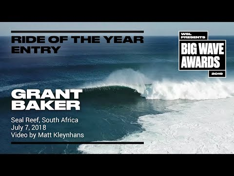 Grant Baker at Seal Reef 2 - 2019 Ride of the Year Entry - WSL Big Wave Award