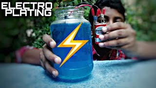 Electro plating simplest way || Science Technology|| Malayalam|| KICHUS TECH ||