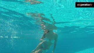 La imágenes con la cámara acuática del piscinazo de Jhendelyn Núñez en Viña
