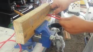 Strip Copper Wire Using A 2x4