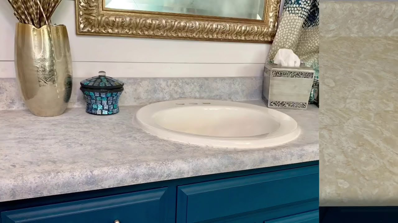 Painted Countertops Made Easy Using ALL-IN-ONE Paint! Try this EASY trick to get GREAT RESULTS!