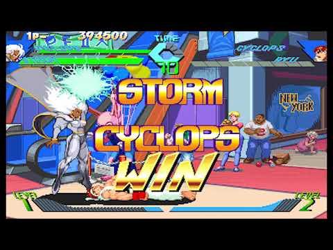 xmen-vs-street-fighter--arcade---cyclops--storm-playthrough--mar-8-2018-