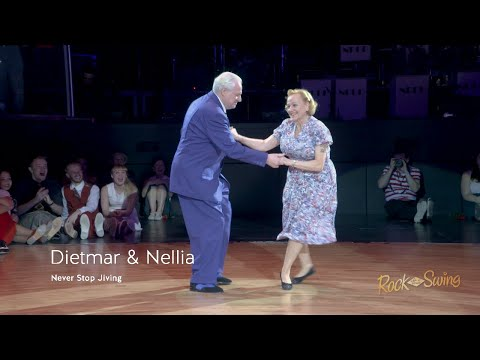 Senior Couple Dances the Swing