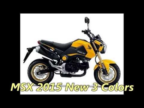Honda MSX 125 New 2015 Colors 3 Review KS