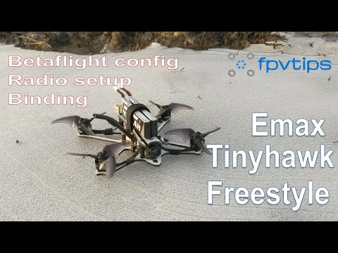 Emax Tinyhawk Freestyle - review, binding, radio and Betaflight setup, flight footage