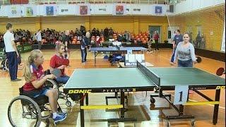 В Великом Новгороде стартовали соревнования по настольному теннису среди инвалидов с поражением опорно-двигательного аппарата