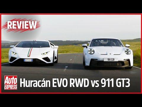 Porsche 911 GT3 vs Lamborghini Huracán EVO RWD: epic road and track test with Steve Sutcliffe