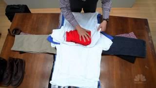اسهل و اسرع طريقة لترتيب الثياب في شنطة السفر