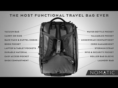 The NOMATIC Travel Bag (Kickstarter)