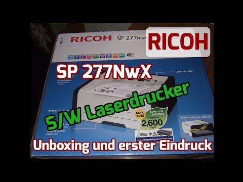 RICOH SP 277NwX schwarz/weiß Laserdrucker [Unboxing und erster Eindruck]