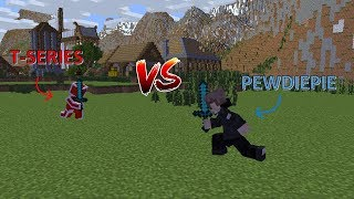 PEWDIEPIE Vs T SERIES  MINECRAFT ANIMATION!