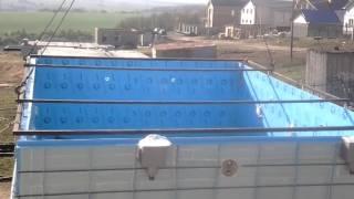 Установка чаши бассейна