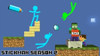 Stickman in Minecraft: Season 2 - Minecraft Animation