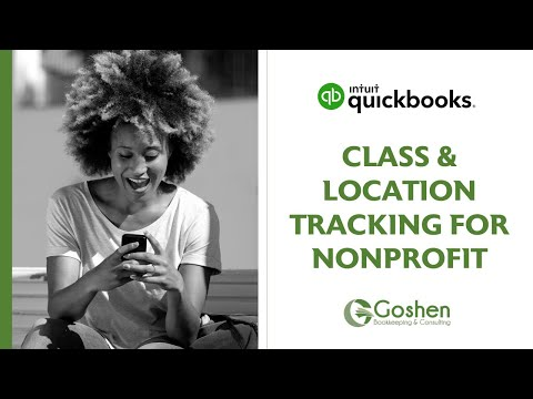 Class and Location Tracking in QuickBooks Online for Nonprofit