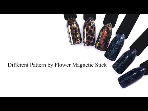 How To Do Cat Eye Magnetic Floral And Strip Pattern Nails? -BORN PRETTY Tutorial