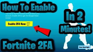 How To Enable 2FA Fortnite In Less Then 2 Minutes! #Fortnite2fa