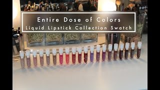 Full Dose of Colors Matte Lipstick Collection Swatch with Comparisons